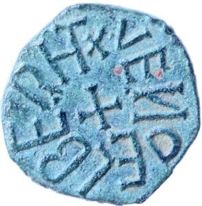 6 Aethelred II styca - back - Wendelberht